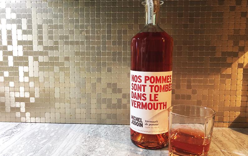Vermouth pommes Épicurienne verre