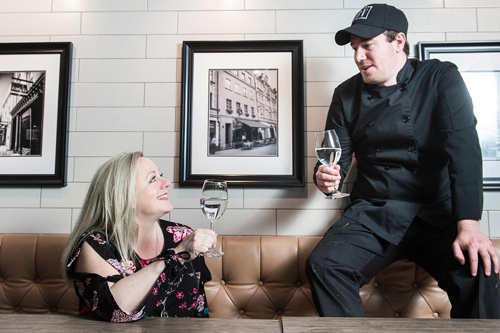 Chef Kevin Ferrari et Dorothée L'épicurienne