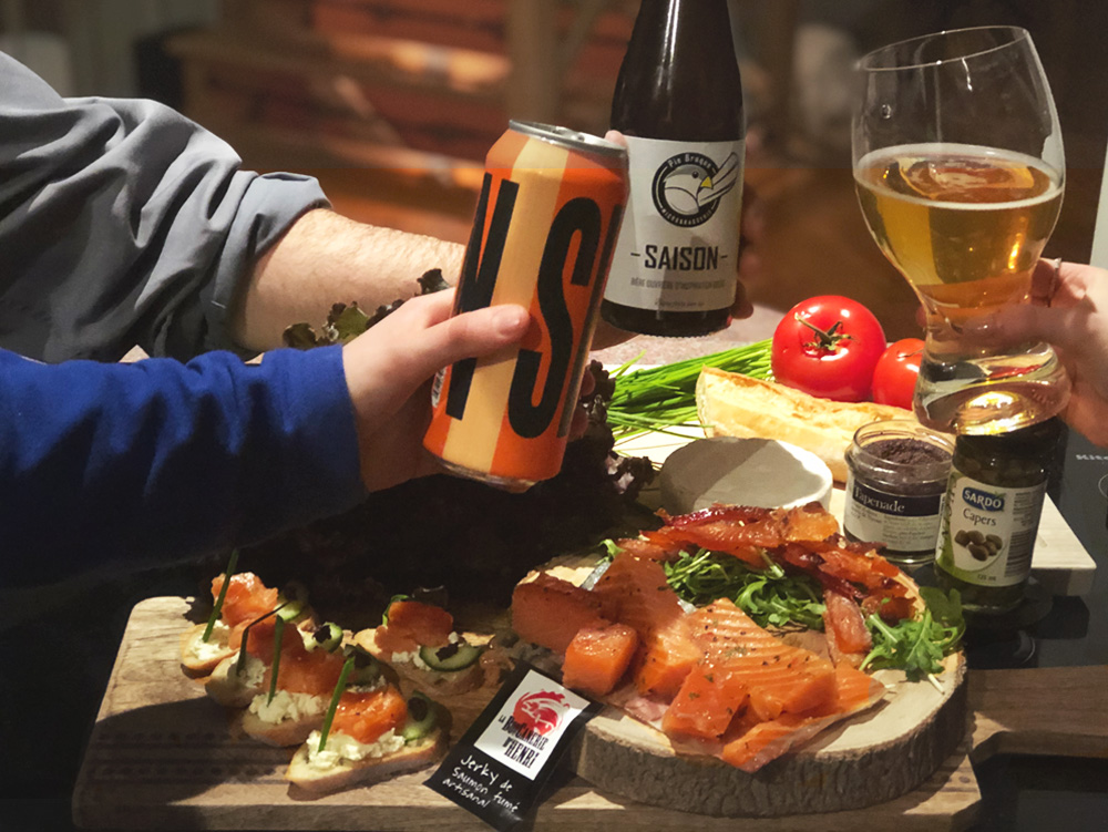saumon fumé repas de Dorothée l'épicurienne